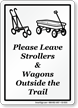 Please Leave Strollers Wagons Outside The Trail Sign