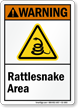 Rattlesnake Area Warning Sign