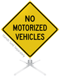 No Motorized Vehicles Roll-Up Sign