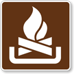 Campfires, MUTCD Guide Sign for Campground