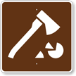 Firewood Cutting, MUTCD Guide Sign for Campground