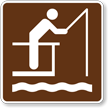 Fishing Pier, MUTCD Guide Sign for Campground