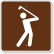 Golfing, MUTCD Guide Sign for Campground