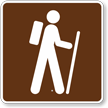 Hiking Trail, MUTCD Guide Sign for Campground