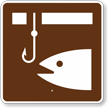 Ice Fishing, MUTCD Guide Sign for Campground