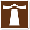 Lighthouse, MUTCD Guide Sign for Campground