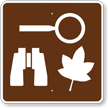Nature Study Area, MUTCD Campground Guide Sign