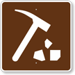 Rock Collecting, MUTCD Guide Sign for Campground