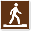 Stay on Trail, MUTCD Campground Guide Sign