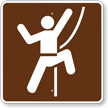 Technical Rock Climbing, MUTCD Campground Guide Sign