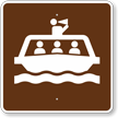 Tour Boat, MUTCD Guide Sign for Campground
