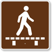 Walk on Boardwalk, MUTCD Campground Guide Sign