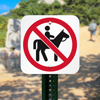 No Horse Riding Symbol Signs