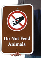 Do Not Feed Animals Campground Signs