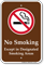 No Smoking Except In Smoking Area Sign