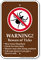 Warning, Beware of Ticks Campground Sign