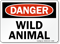 Wild Animal OSHA Danger Sign